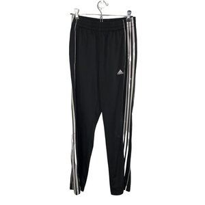 Adidas Youth Black & White Track Pants Large 14/16